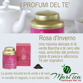 Rosa D'Inverno - Tè Nero e Tè Verde in Lattina Regalo
