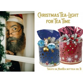 Le Tisane di Natale in Lattina Tealight Blu